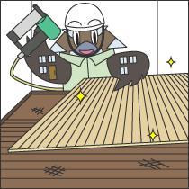 フローリングの重ね張り工事