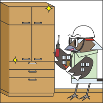 収納棚(既製品家具)の作製工事