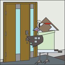 玄関、勝手口扉の工事画像