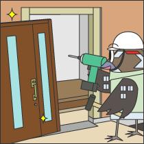 玄関、勝手口扉の交換工事