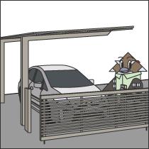 駐車場まわりの工事画像